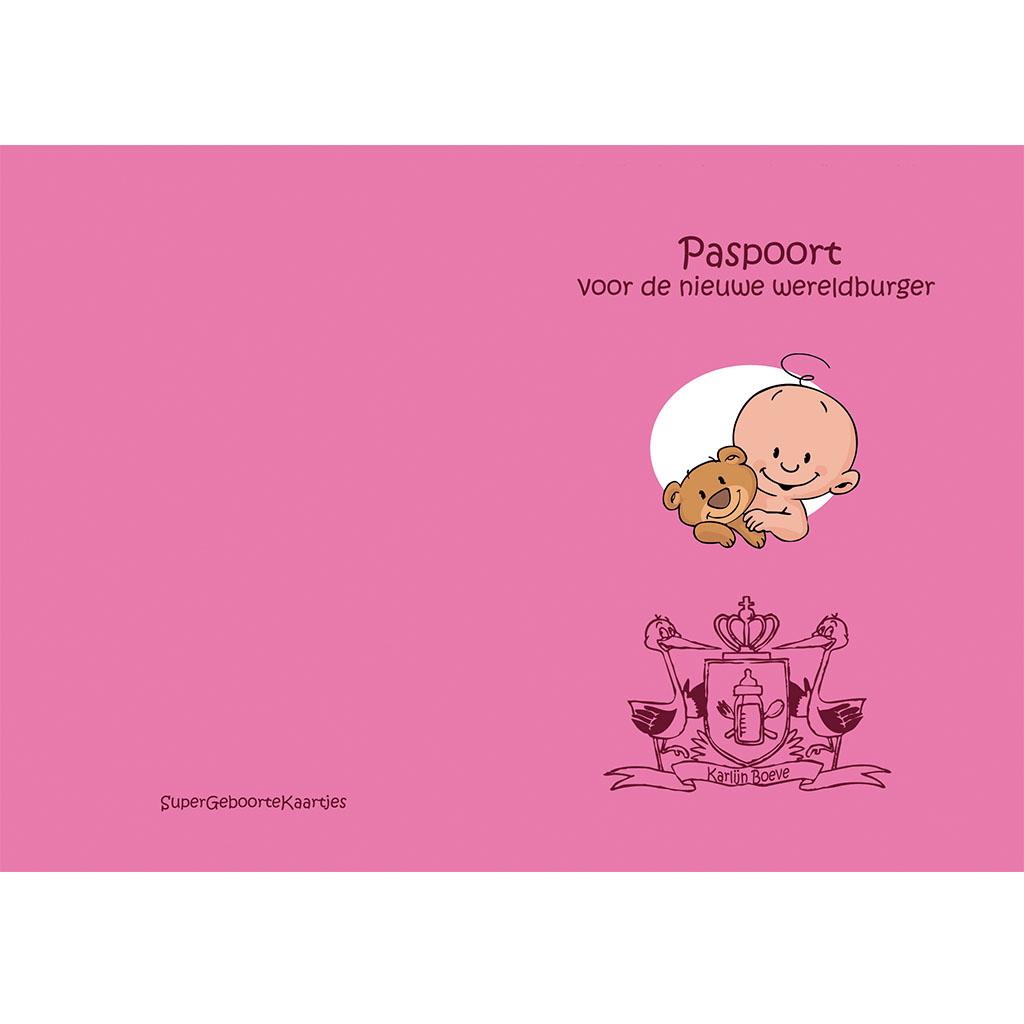 babypaspoort geboortekaartje