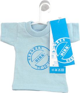 mini t shirtje geboortekaartje