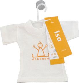 Mini T-Shirtje Geboortekaartje isaac 2