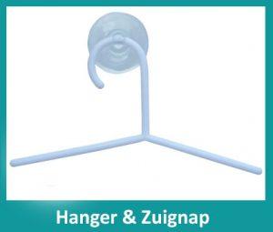 hanger met zuignap