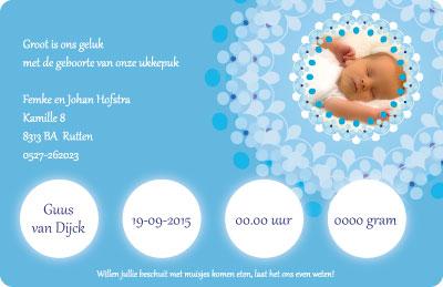 Kraskaart Geboortekaartje