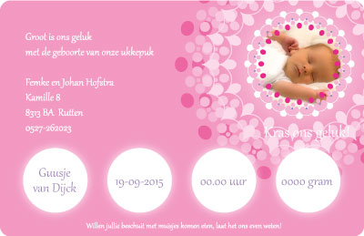 kraskaart geboorte