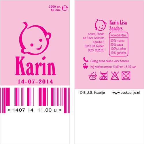 babysokjes geboortekaartje